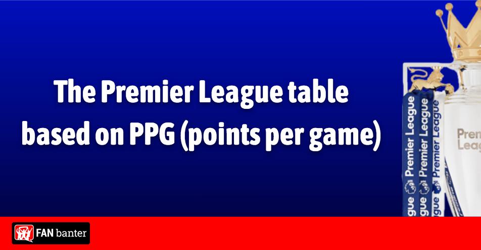 The Premier League Table Based On Ppg Fan Banter